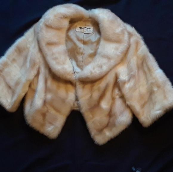 Vintage white mink jacket